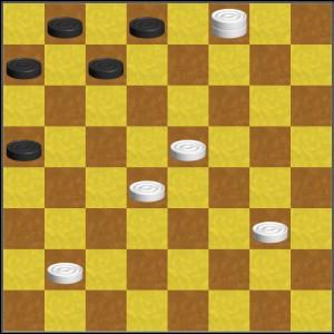 шашка превращается в дамку