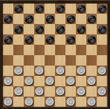 Международные шашки - доска для игры