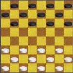 Стартовая позиция в шашках