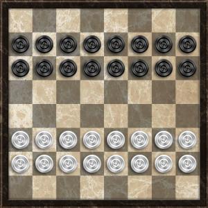 Турецкие шашки. Начальная расстановка