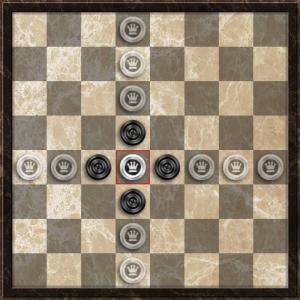 Турецкие шашки. Дамка