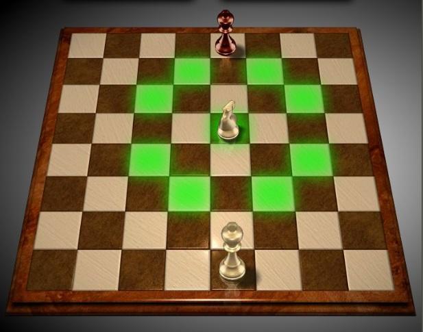 Правила игры в шахматы. Конь