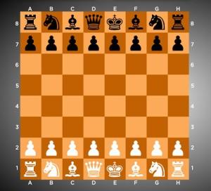 Правила игры в шахматы. Доска 2D