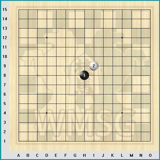 Правила игры Рэндзю - Первые ходы в Рендзю