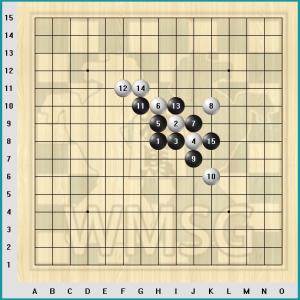 Правила игры Рэндзю - Пример выигрышной ситуации в Рендзю