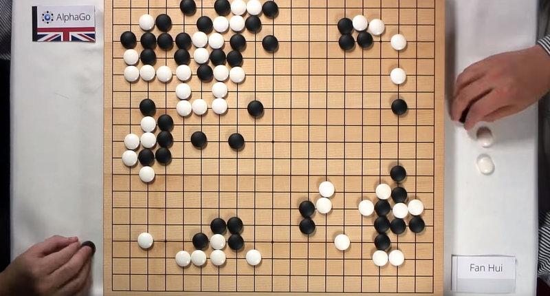 Искусственный интеллект AlphaGo созданный Google обыграл Го чемпиона.