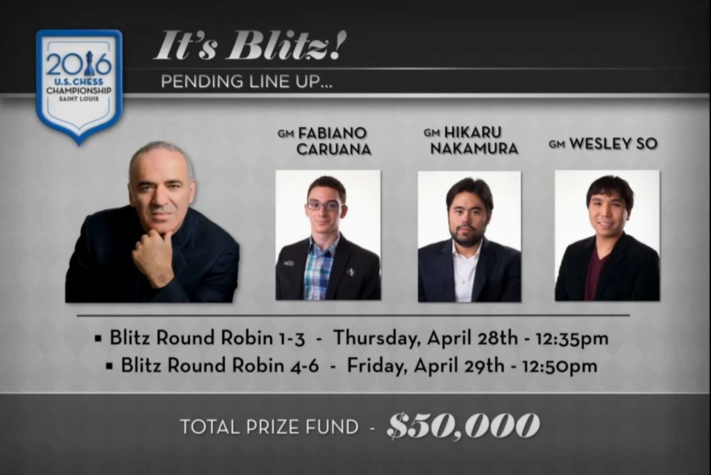 Ultimate Blitz Challenge с Гарри Каспаровым - участники турнира